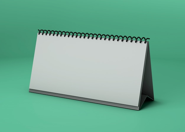 Horizontales kalenderstudio-modell Kostenlosen PSD