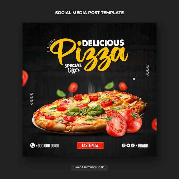 Hot pizza social media post Premium PSD