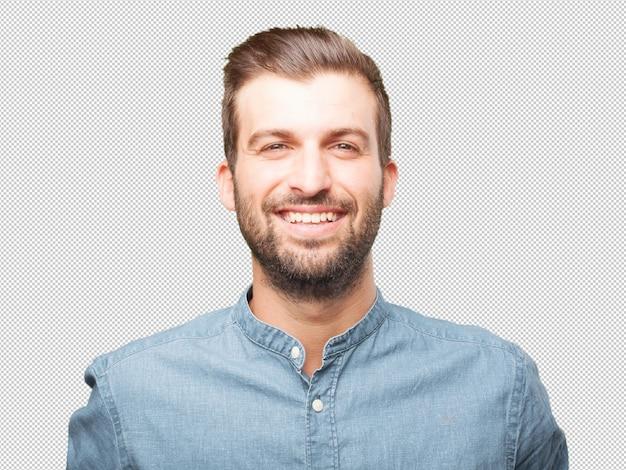 Hübsches lachen des jungen mannes Premium PSD
