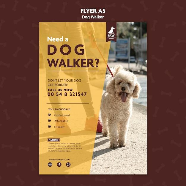 Hundewanderer flyer Kostenlosen PSD