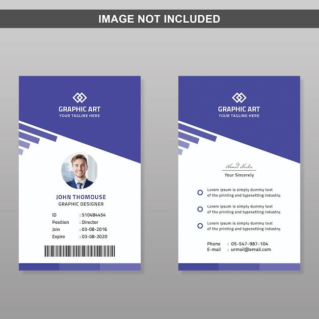 Id-kartenvorlage Premium PSD