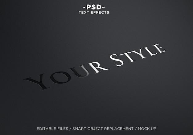 Ihr style-texteffekt Premium PSD