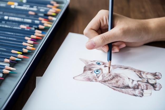Illustrator, der entzückendes tierarbeitsplatzkonzept färbt Kostenlosen PSD