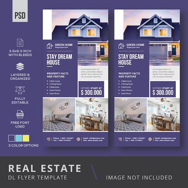 Immobilien dl flyer Premium PSD
