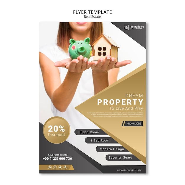 Immobilien flyer Kostenlosen PSD