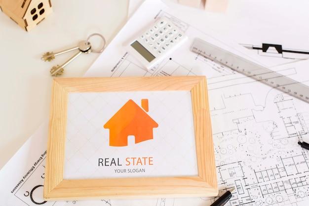 Immobilien-konzept-modell Kostenlosen PSD