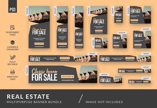 Immobilien-mehrzweck-banner-bundle-vorlage Premium PSD