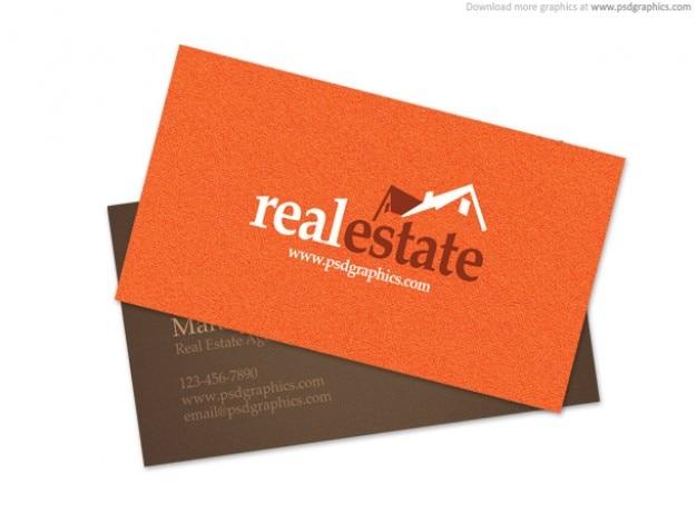 Immobilien Visitenkarte Kostenlose Psd Datei