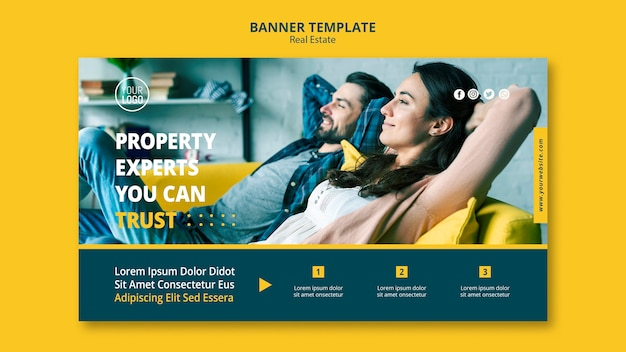 Immobilienkonzept banner design Kostenlosen PSD