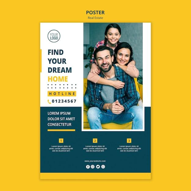 Immobilienkonzeptplakatdesign Kostenlosen PSD