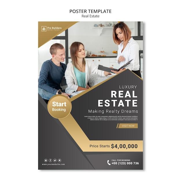 Immobilienplakatdesign Kostenlosen PSD