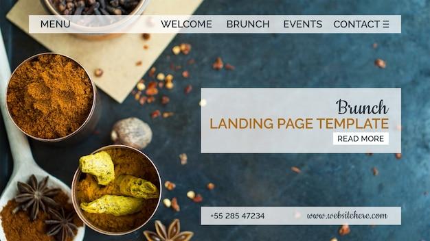Indisches essen landing page template Kostenlosen PSD