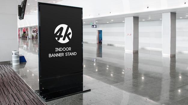 Indoor banner stand mockup Premium PSD