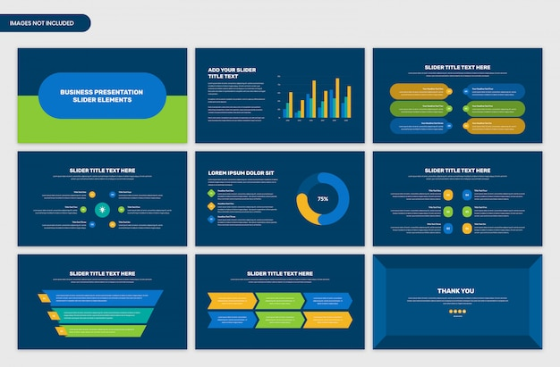 Infografik-elemente des geschäftspräsentationsschiebers Premium PSD