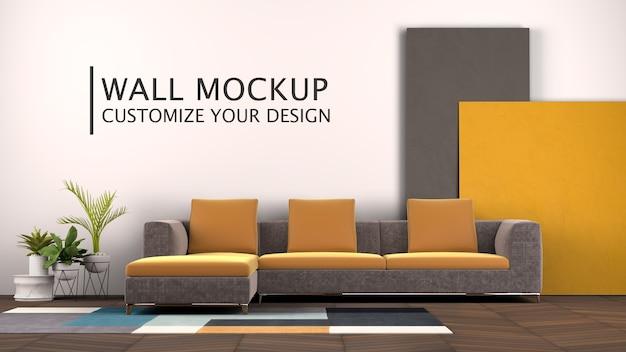 Innenarchitektur mit couch Kostenlosen PSD