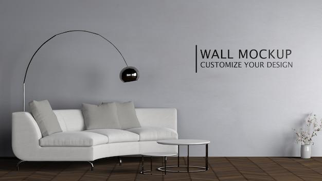Innenarchitektur mit weißer couch Kostenlosen PSD