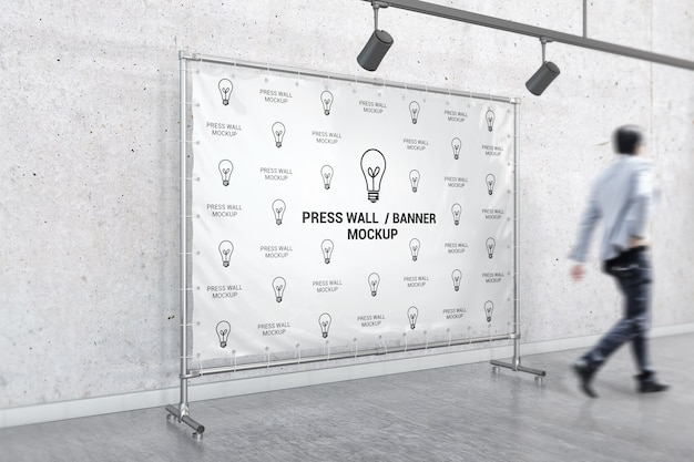 Innenstand banner-modell Premium PSD