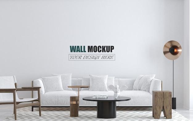Innenwandmodell des modernen wohnzimmers Premium PSD