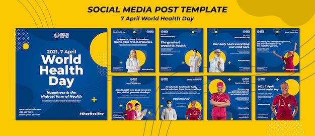Instagram-beiträge zum weltgesundheitstag Premium PSD
