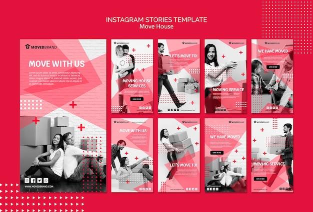 Instagram geschichten mit umzug t Kostenlosen PSD