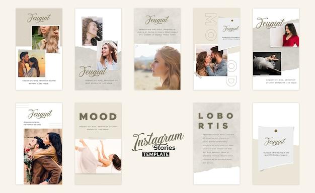 Instagram geschichten moodboard-vorlage Premium PSD