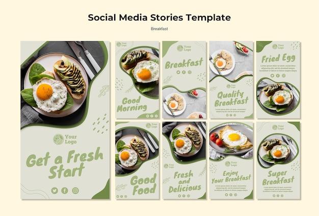 Instagram geschichten sammlung für gesundes frühstück Kostenlosen PSD