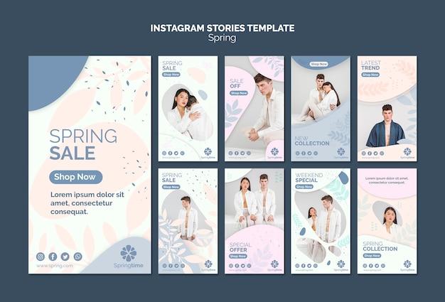 Instagram geschichten-vorlagensammlung Kostenlosen PSD
