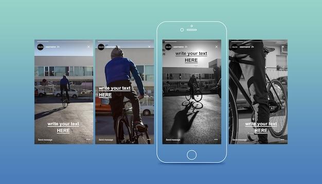 Instagram-geschichtenmodell Premium PSD