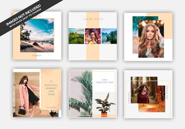 Instagram post sale quadratische banner vorlage für modegeschäfte, festgelegt Premium PSD