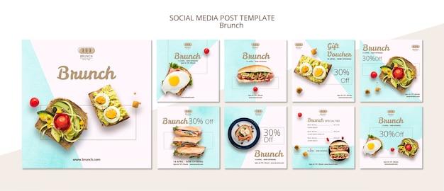 Instagram post template sammlung Kostenlosen PSD