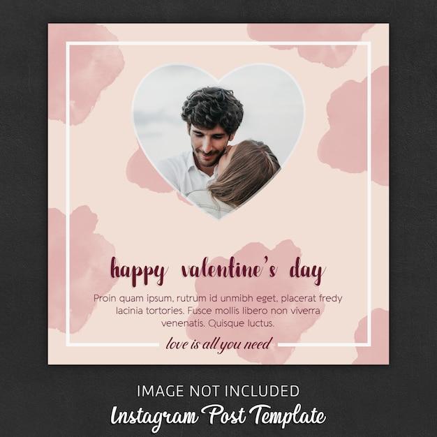 Instagram post templates zum valentinstag Premium PSD