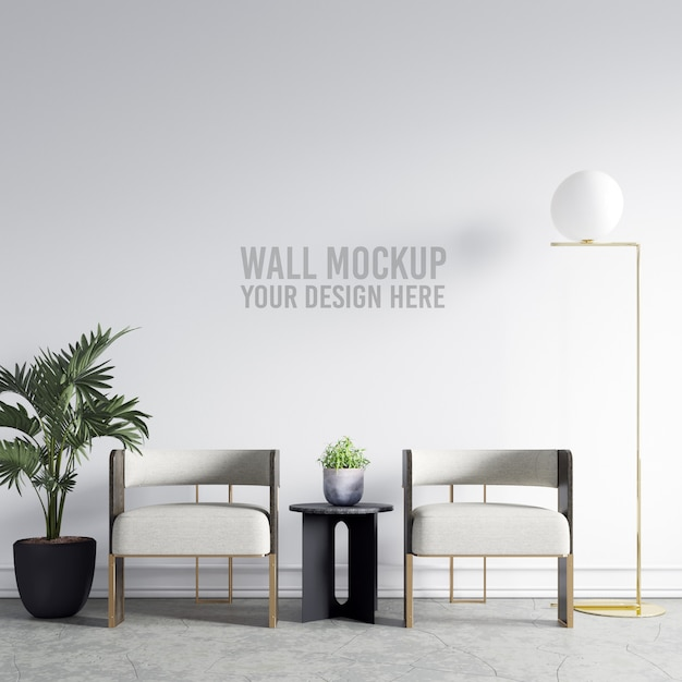 Interior wallpaper mockup Premium PSD