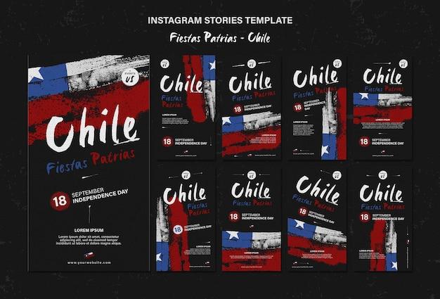 Internationale chile day instagram geschichten Premium PSD