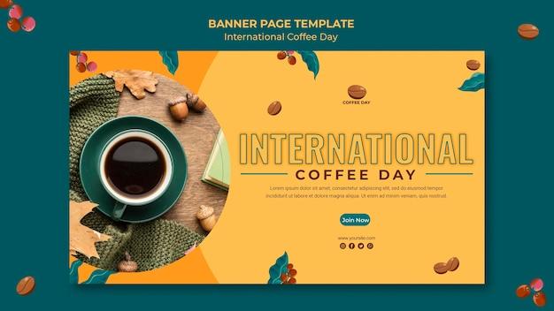 Internationale kaffeetag banner vorlage Kostenlosen PSD
