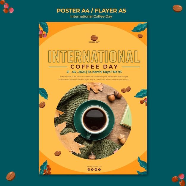 Internationale kaffeetag flyer vorlage Kostenlosen PSD