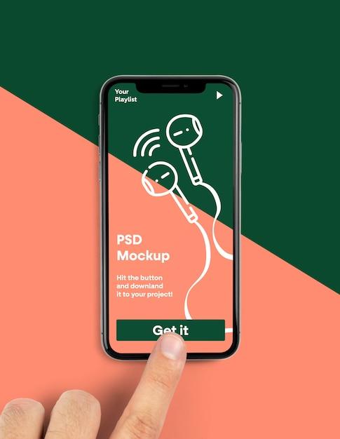 Iphone psd mockup Premium PSD