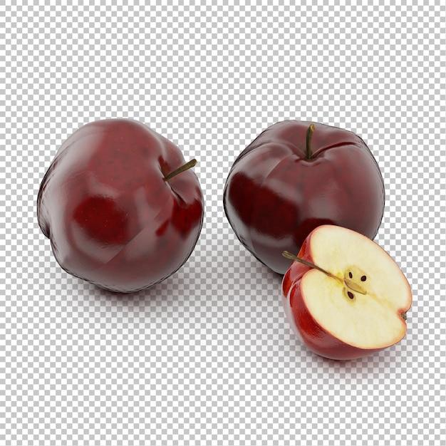 Isometrische äpfel Premium PSD