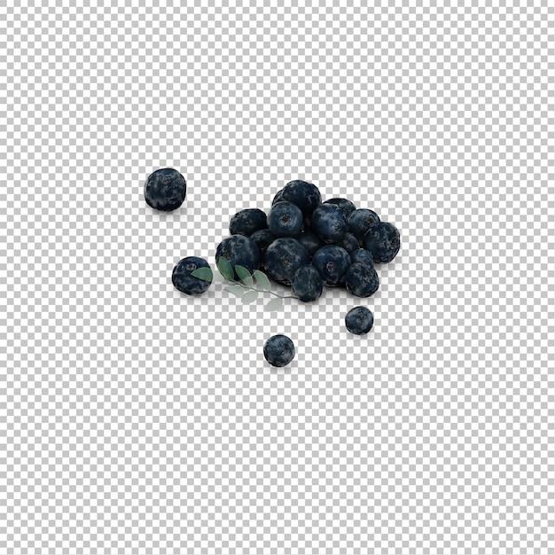 Isometrische blaubeeren Premium PSD