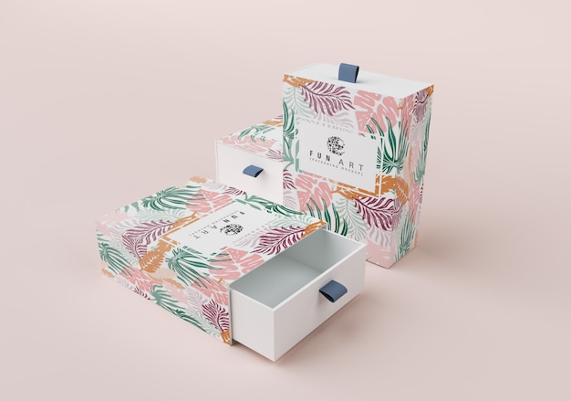 Isometrische box-modell Premium PSD