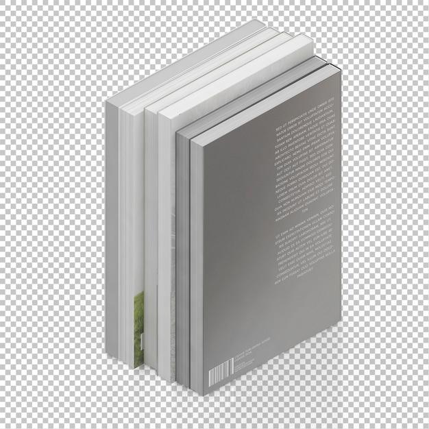 Isometrische bücher Premium PSD