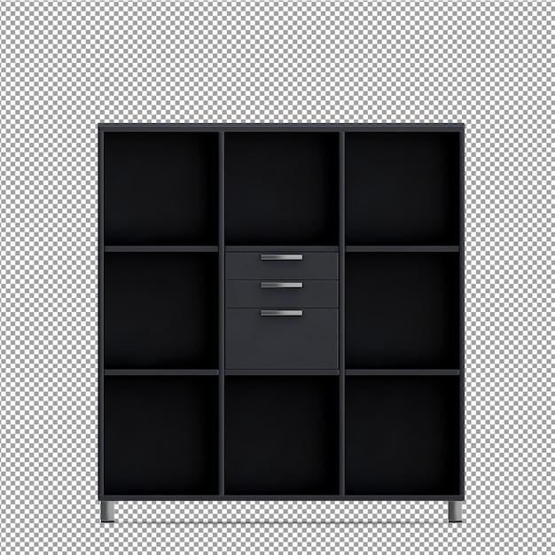 Isometrische büroausstattung 3d übertragen Premium PSD