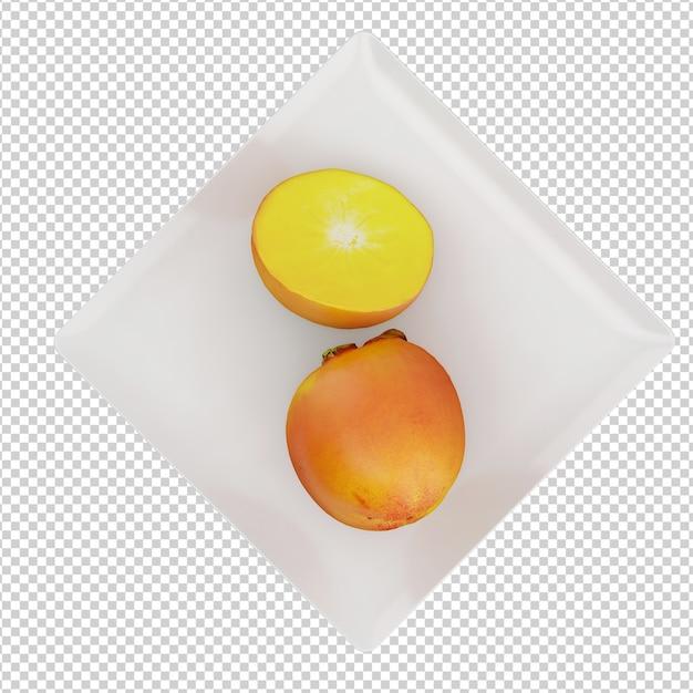 Isometrische früchte Premium PSD