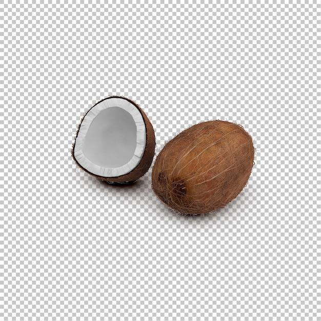 Isometrische kokosnüsse Premium PSD