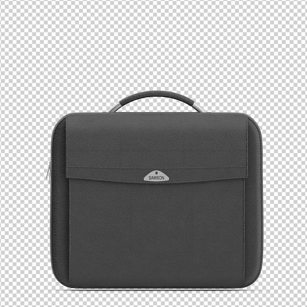 Isometrische laptoptasche Premium PSD
