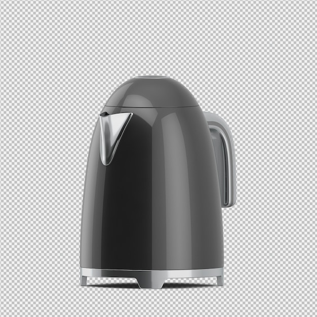 Isometrische teekanne 3d übertragen Premium PSD