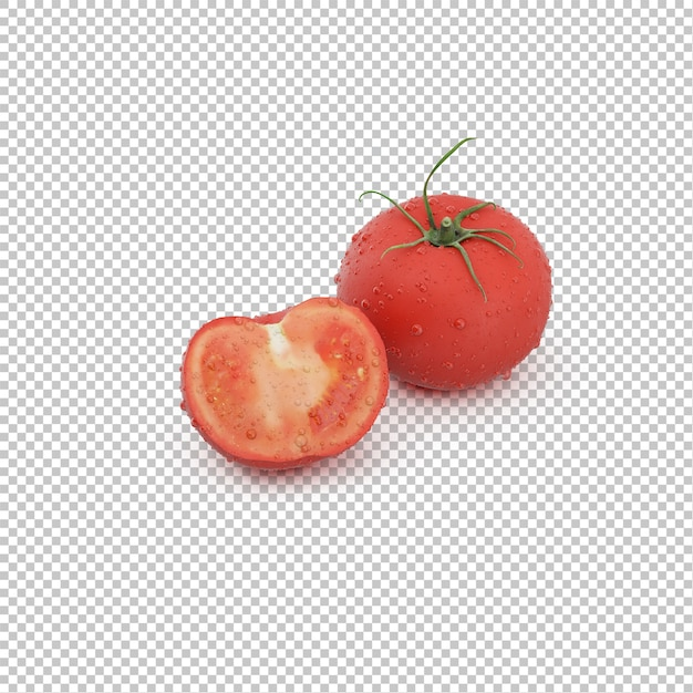 Isometrische tomaten Premium PSD