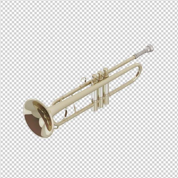Isometrische trompete Premium PSD
