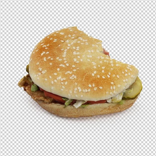 Isometrischer burger Premium PSD