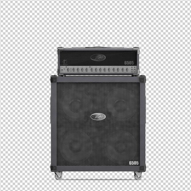 Isometrischer lautsprecher Premium PSD