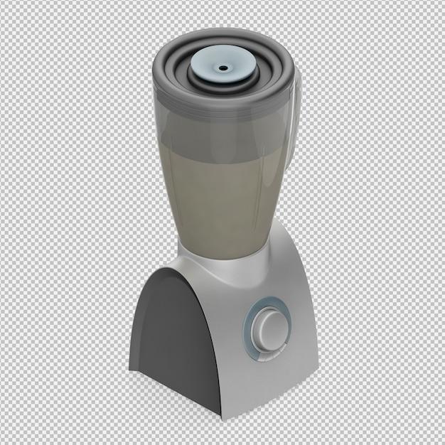 Isometrischer mixer 3d übertragen Premium PSD